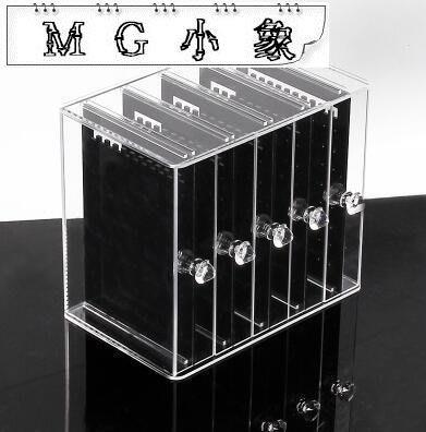 首飾收納盒  亞克力耳環盒子透明耳釘首飾塑料