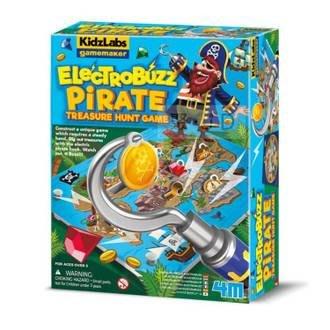 4M 體驗科學 03436 海盜船長的藏寶圖 Pirate Treasure Hunt 桌遊 電流裝置【小瓶子的雜貨小舖
