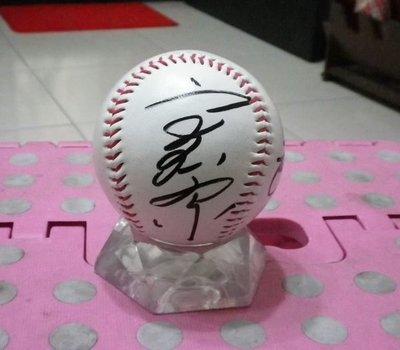 棒球天地--5折賠錢出清--日本名球會 高田繁 加簽座右銘 於巨人紀念球.字跡漂亮