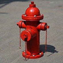 復古懷舊擺件鐵皮消防栓~loft 民宿 餐飲 居家 攝影