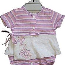 媽咪家【AG005】AG5紫色哈裙 短袖 前開釦 早產 新生兒 假2件 裙哈 哈衣 包屁衣 連身裙 彌月禮~NB.3M