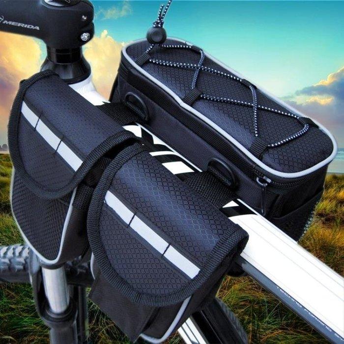 正品四合一子母包車前包 上管包 自行車包 山地車梁包騎行包