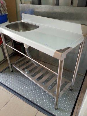 不鏽鋼水槽100*45(水槽有分左右邊,或訂製位置)加冷水龍頭