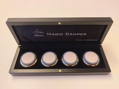 德國MAGIC DAMPER MD-6 音響神奇吸震墊 黑色(金/銀套環) 16X45mm 免運費