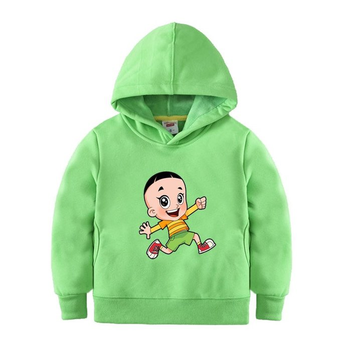 【童裝】韓版男童百搭衛衣套頭外套大頭兒子與小頭爸爸童裝女兒童寶寶秋冬綠色上衣