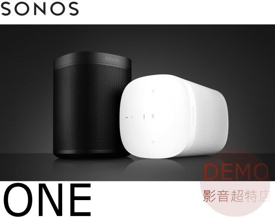 ㊑DEMO影音超特店㍿ SONOS ONE WiFi 無線智慧音響 喇叭 (1支)