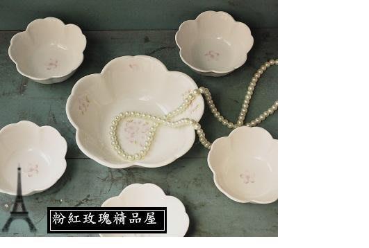 粉紅玫瑰精品屋~zakka英式下午茶櫻花碗五件組~