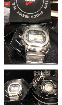 台灣公司貨全新 G-SHOCK GMW-B5000D-1 藍牙 不鏽鋼 錶帶 銀色