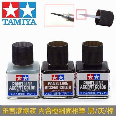 【鋼普拉】田宮 TAMIYA 模型專用 滲線液 墨線液 灰色 87133 + 黑色 87131 + 深咖啡 87140