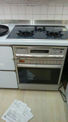 高雄台南《J工坊》林內日本原裝RBR-U51E-SV瓦斯微波烤箱/專業技術士證照/三年保固