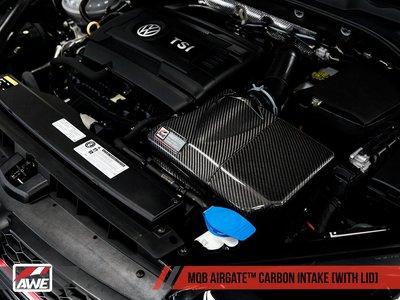 =1號倉庫= AWE Tuning 2代 AIRGATE 碳纖維進氣 有上蓋 VW GOLF 1.8 MQB 2015+