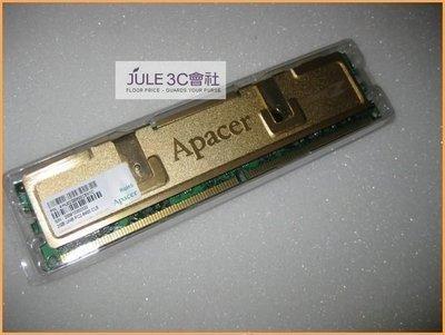 JULE 3C會社-宇瞻Apacer DDR2 800 PC6400 2GB 2G 黃金甲/CL5/雙面/終保/良品/桌上型 記憶體
