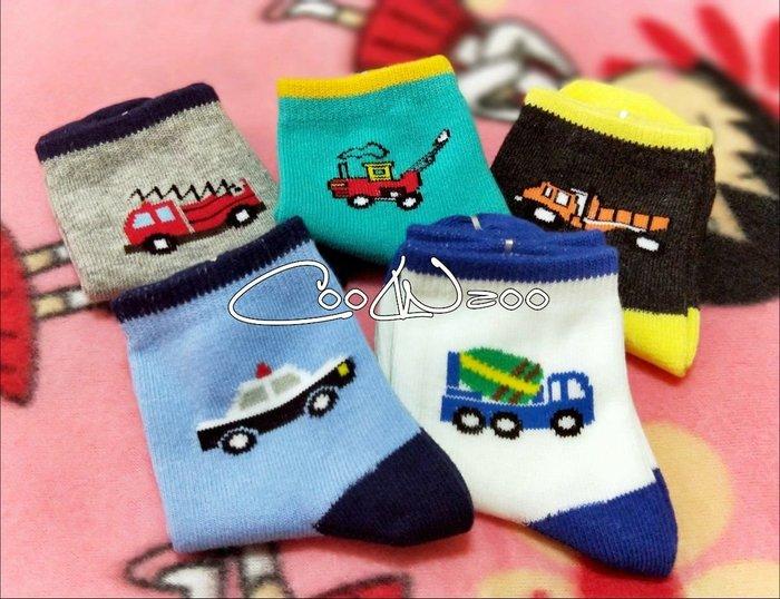 【童襪區//5雙1組】2-3歲 可愛汽車造型 寶寶襪 童襪