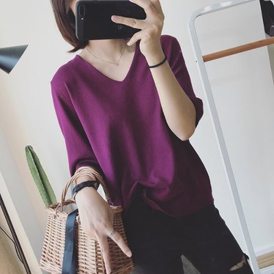 【Casi Cielo】180809韓國訂單 超級好穿 百搭 顯瘦 優雅 柔軟彈力 針織衫 上衣(多色 )韓妮 可樂果