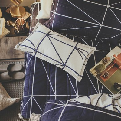 MIT精梳棉-床罩組/雙人【莫爾狂想】(5件式)絲薇諾
