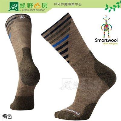 綠野山房》Smartwool 美國 男女 PhD戶外輕量減震印花中長襪 美麗諾羊毛襪 褐色 SW001208880