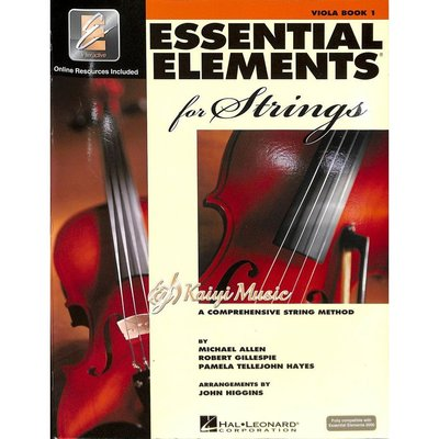 【Kaiyi Music】Essential elements viola book 1 中提琴教材 樂譜