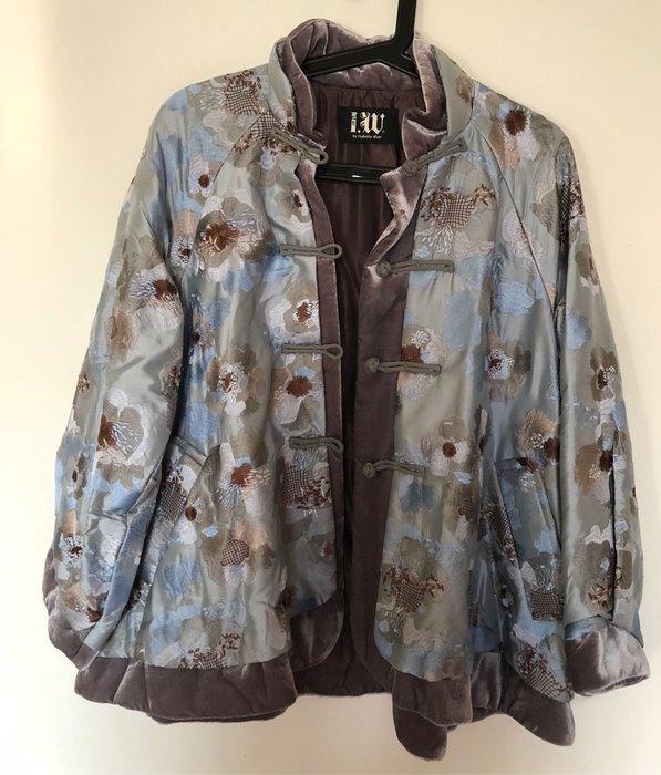 溫慶珠經典款中國風100%絲繡花薄鋪棉外套