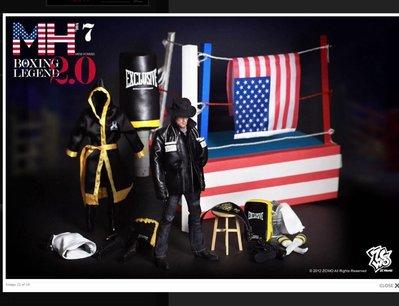 全新未玩過 ZCWO MH7 Boxing Legend 2 Rocky 洛奇 連兩個史泰龍頭 hottoys