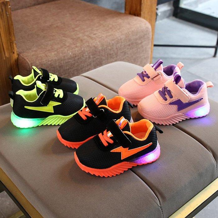 秋款1到6歲半2兒童鞋子3男女孩4發光鞋5小孩子學步鞋寶寶亮燈鞋潮