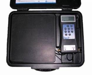 冷媒定量充填(自動型)電子磅秤 送R12 R134 冷媒錶組+5尺高低壓冷媒管(促銷) 售完為止