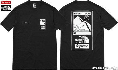【超搶手】全新正品2016聯名Supreme x The North Face Steep Tech Tee Box短袖