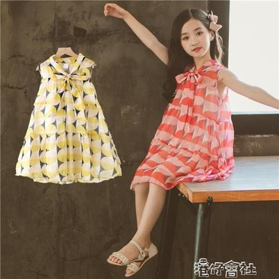 童裝女童夏裝套裝韓版時尚洋氣兒童夏季時髦短袖洋裝潮 港仔會所