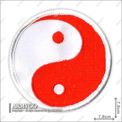 【ARMYGO】太極 繡章 (紅色)