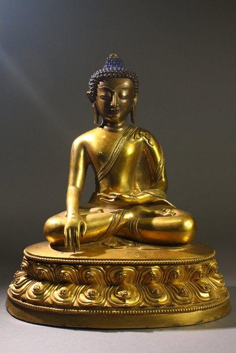 悅年堂 --- 銅鎏金 釋迦牟尼佛 坐像