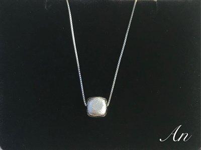 (人氣款)能量 天鐵 鎳鐵隕石  方塊珠項鍊