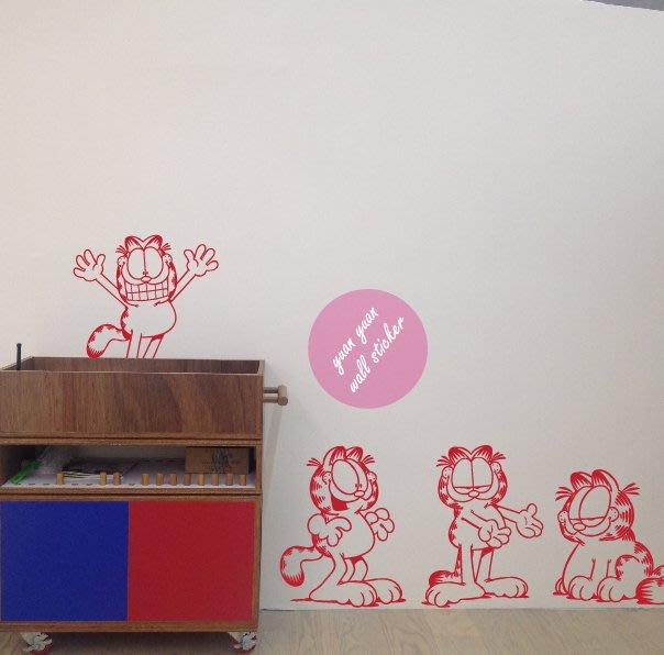 【源遠】【CT-02】多 變 表 情 ‧ 加 菲 貓壁貼/壁紙 DESIDN 裝潢 室內設計 防水 車身 透明