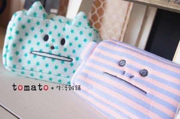 ˙TOMATO生活雜鋪˙日本進口雜貨CRAFTHOLIC條紋星星厚布料猴子貓咪造型零錢包