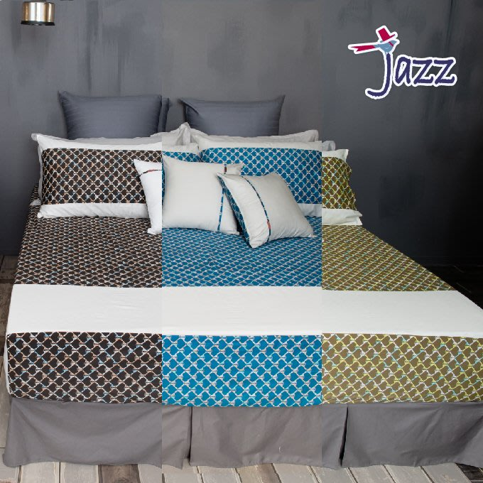 《40支紗》雙人床包【共3色】Jazz 100%精梳棉-麗塔寢飾-