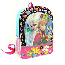 Disney冰雪奇緣 Elsa, Anna 與 Olaf 造型兒童後背包 / 書包