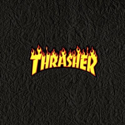 PVC防水貼紙 火焰 THRASHER  街頭 爆炸貼 滑板 吉他 貝斯 行李箱 旅行箱 電腦 滑雪板 567