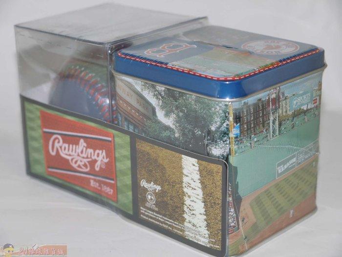 貳拾肆棒球-美國職棒大聯盟MLB波士頓紅襪紀念球/芬威球場存錢筒組 Rawlings製造