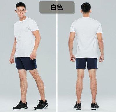 運動t恤純色男圓領短袖訓練寬鬆打底棉夏內衣健身上衣GYPML
