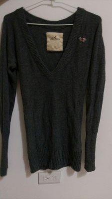近全新美國品牌Hollister長袖大V領毛衣