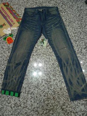 LEVIS x CLOT x BE@RBRICK 505 EDC 水洗刷紋 西瓜褲