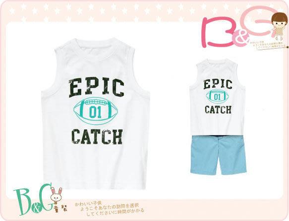 【B& G童裝】正品美國進口GYMBOREE Epic Catch Tank 白色背心上衣5號4-5yrs