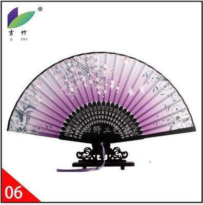 古風扇子舞蹈扇中國風摺扇手工扇子簡約手繪中國風扇流蘇日式折扇 BB-004