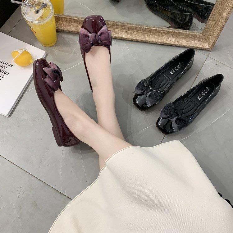 丫 丫 Sweety大尺碼女鞋555 ☆甜美方頭蝴蝶結娃娃鞋☆ 35-44 (缺碼預購7-14天)D539