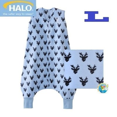X.H. Baby【美國 HALO】SleepSack Early Walker 防踢被 背心 睡袋 秋冬刷毛 藍色麋鹿