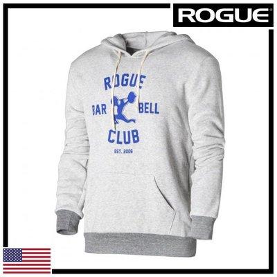 ►瘋狂金剛◄ 淺灰/藍 ROGUE BARBELL CLUB 2.0 HOODIE 槓鈴俱樂部2.0 帽T
