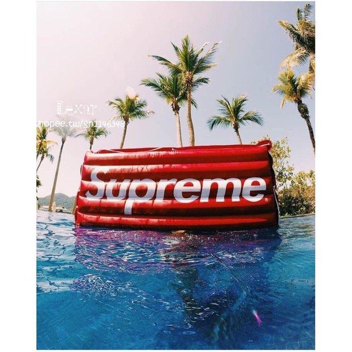 好評熱賣! 潮牌supreme水床充氣閥充氣床筏子攝影  水床 氣墊床 泳池 充氣床 拍攝道具 收藏 擺飾
