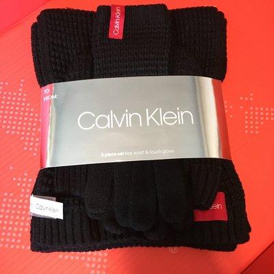 😍送禮首選😍Calvin Klein 女裝頸巾&冷帽&手襪套裝 CK women's scarf hat & glove set 黑色 Black