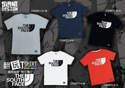 SLANT 翻玩 THE NORTH FACE  搞笑T THE SOUTH FACE  短袖T 限量T恤 客製化T恤