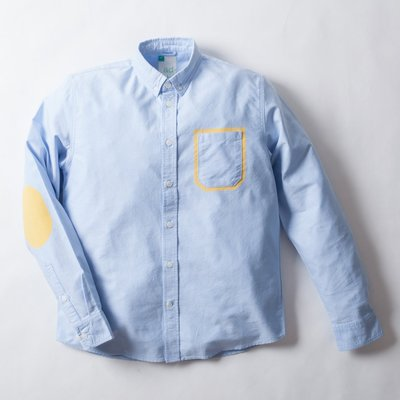 【YOYOGI PLUS】ADLIB - 口袋邊框襯衫 (藍)