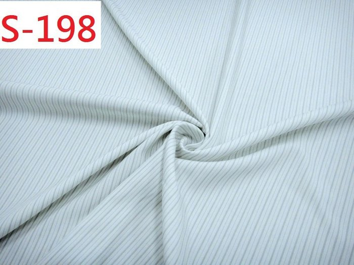 (特價10呎200元) 布料零售 布料批發【CANDY的家2館】精選布料 S-198 白底亮光黑直條襯衫裙褲料
