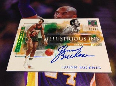 19 20 Impeccable - Quinn Buckner 限量/25 Holo Silver 版卡面簽名卡